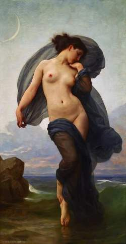 """Atardecer"", William Adolphe Bouguereau"